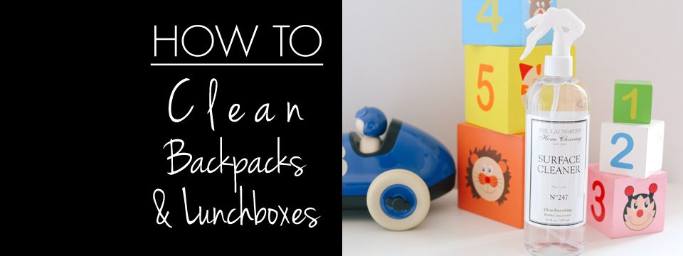 how to | clean backpacks & lunchboxes