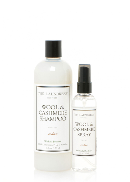 wool & cashmere shampoo and spray duo